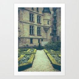 French Garden Maze Art Print