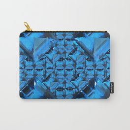 ORNATE  BLUE CRYSTAL GEMS PATTERN Carry-All Pouch