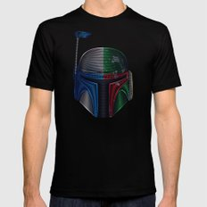 Star . Wars - Jango Fett & Boba Fett Mens Fitted Tee MEDIUM Black
