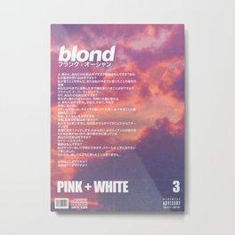 Frank Blond Vintage Pink + White Metal Print