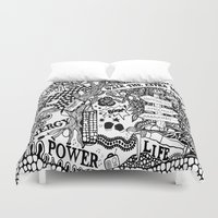 boxing Duvet Covers featuring Boxing by JessicArt