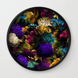melancholy flowers big seamless pattern 01 Wall Clock