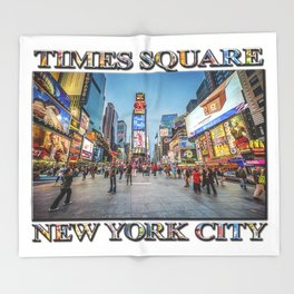 Times Square Sparkle (with typography) Throw Blanket