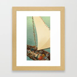 Boats and Books Framed Art Print