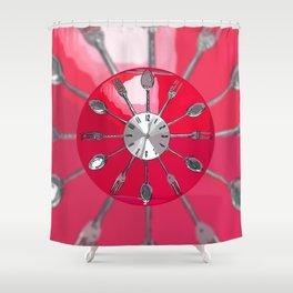 Cutlery O'clock 2. Shower Curtain