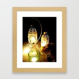 Candlelight dinner Framed Art Print