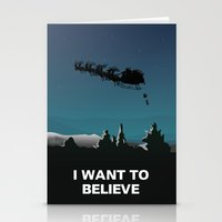 i want to believe Stationery Cards featuring I want to believe by Fresco Umbiatore