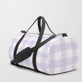 Lilac gingham pattern Duffle Bag