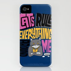 C.R.E.A.M. Cats Rule Everything Around Me iPhone (4, 4s) Slim Case
