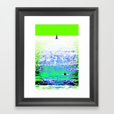 Sailboat and Swimmer (2b) Framed Art Print