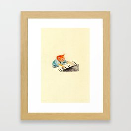 watercolour keyboard Framed Art Print