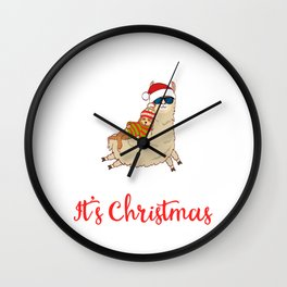 Stay Cool And Sleep It's Christmas Merry Christmas December 25 T-Shirt Design Lazy Slow Tree Hung Wall Clock