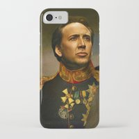 nicolas cage iPhone & iPod Cases featuring Nicolas Cage - replaceface by replaceface