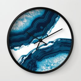 Blue Agate #1 #gem #decor #art #society6 Wall Clock