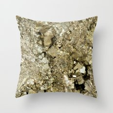 A Golden Fool Throw Pillow