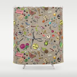 Junk Drawer Shower Curtain