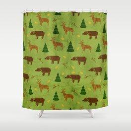 Woodland Origami Shower Curtain