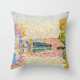 "Paul Signac ""Samois, Etude no. 6"" Throw Pillow"