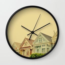 Painted Ladies in San Francisco - Fine Art Photography Wall Clock