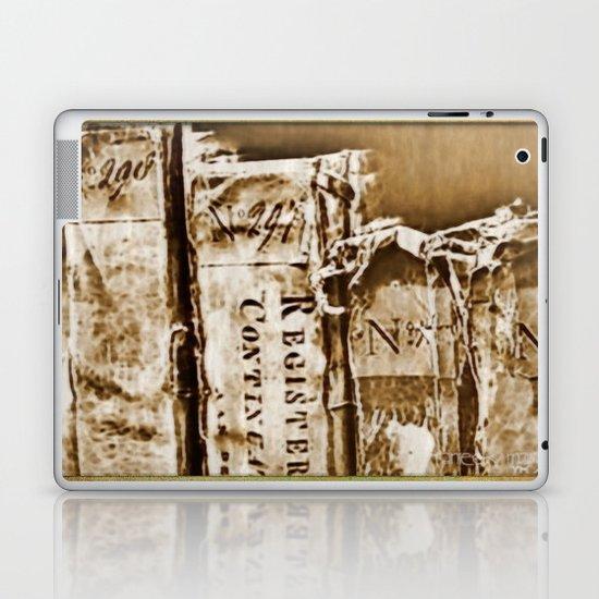 Faded Books Laptop & iPad Skin