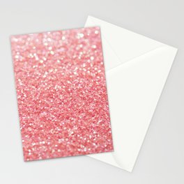 pink sparkle Stationery Cards