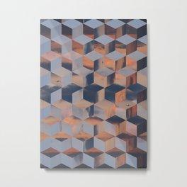 Tumbling Blocks (Sky Quilt 3) Metal Print
