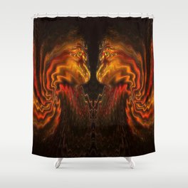 Face to Face. Shower Curtain