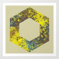 hexagon Art Prints featuring Hexagon by Daniel DeVinney