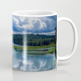 Photo USA East Lake Oregon Summer Nature Scenery Forests Clouds forest landscape photography Coffee Mug