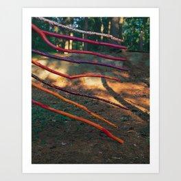 8 of Wands Art Print