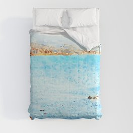 Seascape with boat Comforters