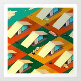 A-Frames Art Print