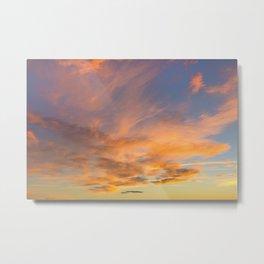 Golden Clouds Metal Print
