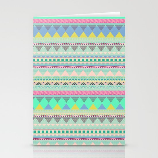 PASTEL AZTEC Stationery Cards