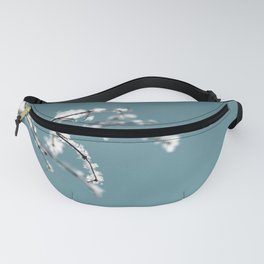 White Snow and Ice on Robin's Egg Blue Fanny Pack
