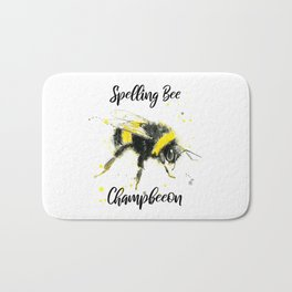 Spelling Bee Champbeeon - Punny Bee Bath Mat