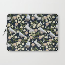 White Doves and Roses Laptop Sleeve