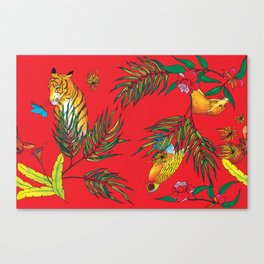 RED TIGER PATTERN Canvas Print