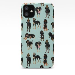 Black and Tan Coonhound Pattern iPhone Case