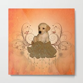 Cute little puppy Metal Print