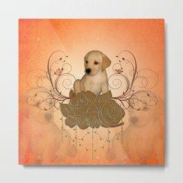Cute little puppy Metal Print