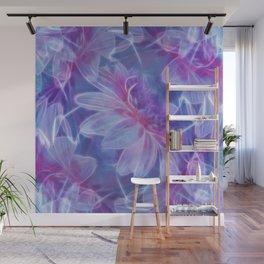 Abstract Dahlia fractal Wall Mural