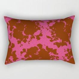 bouquet silhouette in berry Rectangular Pillow