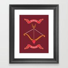 Love target. Framed Art Print