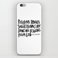 vonnegut iPhone & iPod Skins featuring peculiar travel suggestions - kurt vonnegut by Shaina Anderson