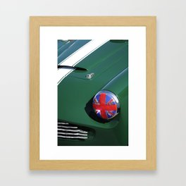 Union Jack Headlight Framed Art Print