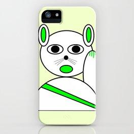 Maneki neko green version iPhone Case