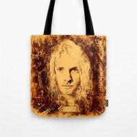 kurt cobain Tote Bags featuring 27 Club - Cobain by MUSENYO