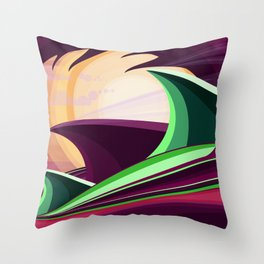 The Wave and The Dragon Throw Pillow