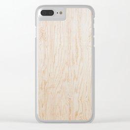 Veneer plywood texture Clear iPhone Case
